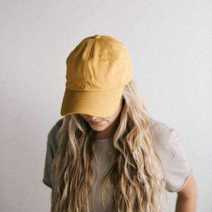 AJM Mustard Yellow Strap Back Ball Cap